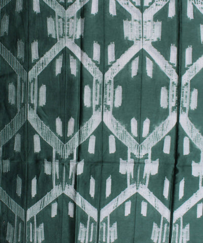 Shibori Chanderi Dark Green Kurta Fabric