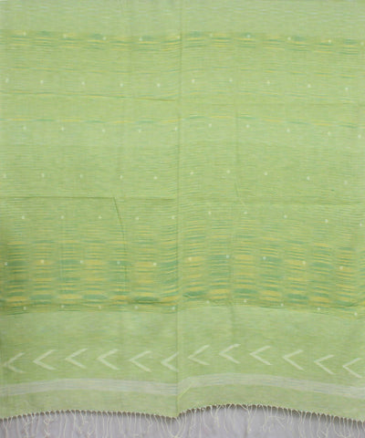 Bengal Handwoven Yellow Green Jamdani Stole