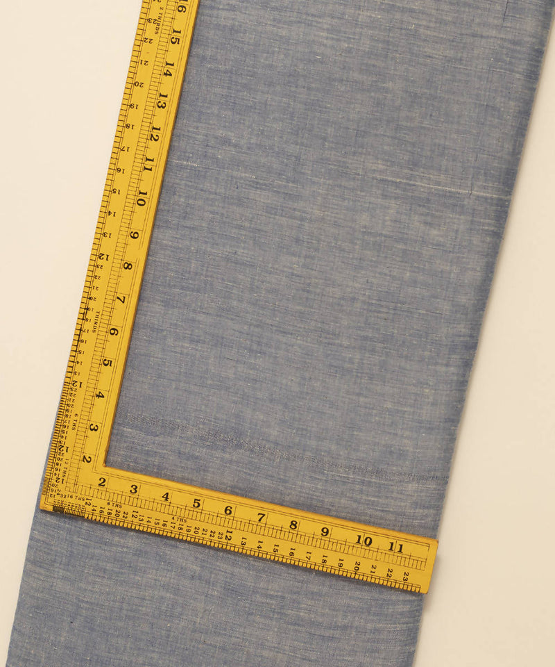 Handspun Handwoven Cotton Light Blue Fabric