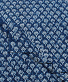 Indigo White Dabu Block Printed Cotton Fabric