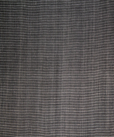 Black with white Handwoven Organic kala cotton fabric