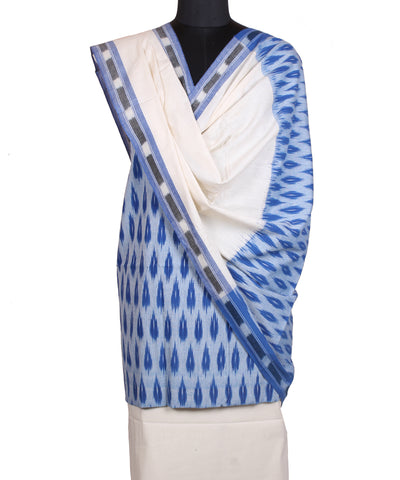 Light Blue Handwoven Pochampally Cotton Suit