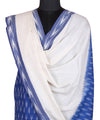 Blue White Handwoven Ikat Cotton Suit