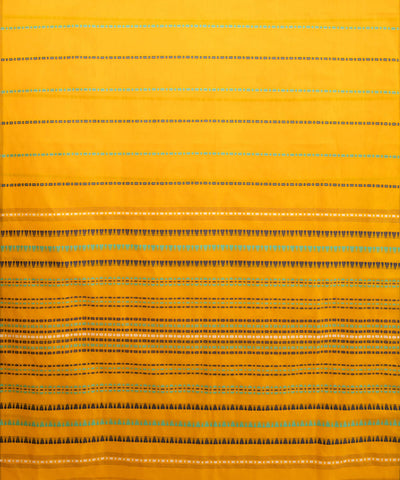 Yellow begampuri handspun handwoven cotton saree