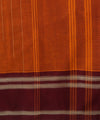 Orange Burgundy Handloom Chettinadu Saree