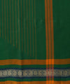 Handloom Chettinadu Dark Green Cotton Saree