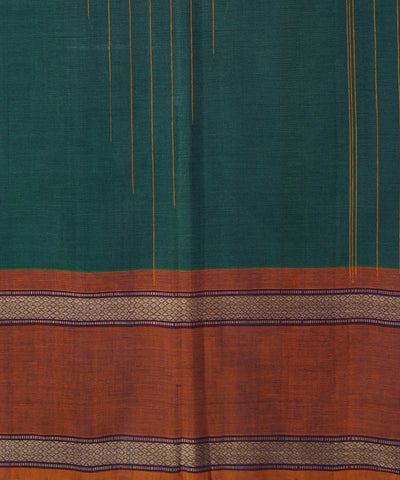 Blue Green Handloom Chettinadu Cotton Saree