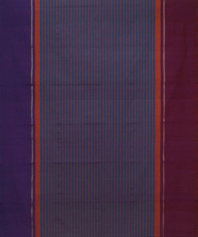 Lavender Stripe Handloom Chettinadu Saree