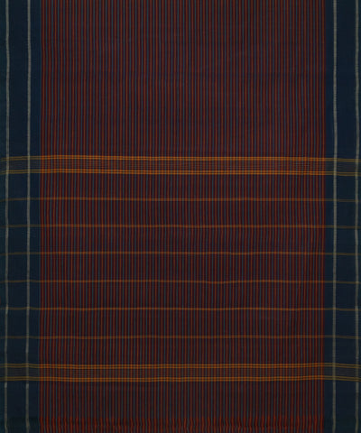 Multicolor Stripe Handloom Chettinadu Saree