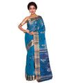 Blue Bengal Handloom Tant Cotton Saree