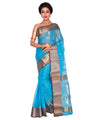Blue Bengal Handloom Cotton Tant Saree