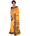 Yellow Bengal Handloom Tant Cotton Saree