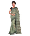 Green Bengal Handloom Cotton Tant Saree