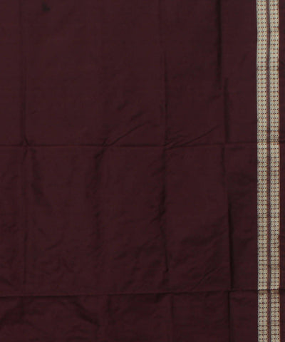 Mustard, Red, Brown Handloom Bomkai Saree