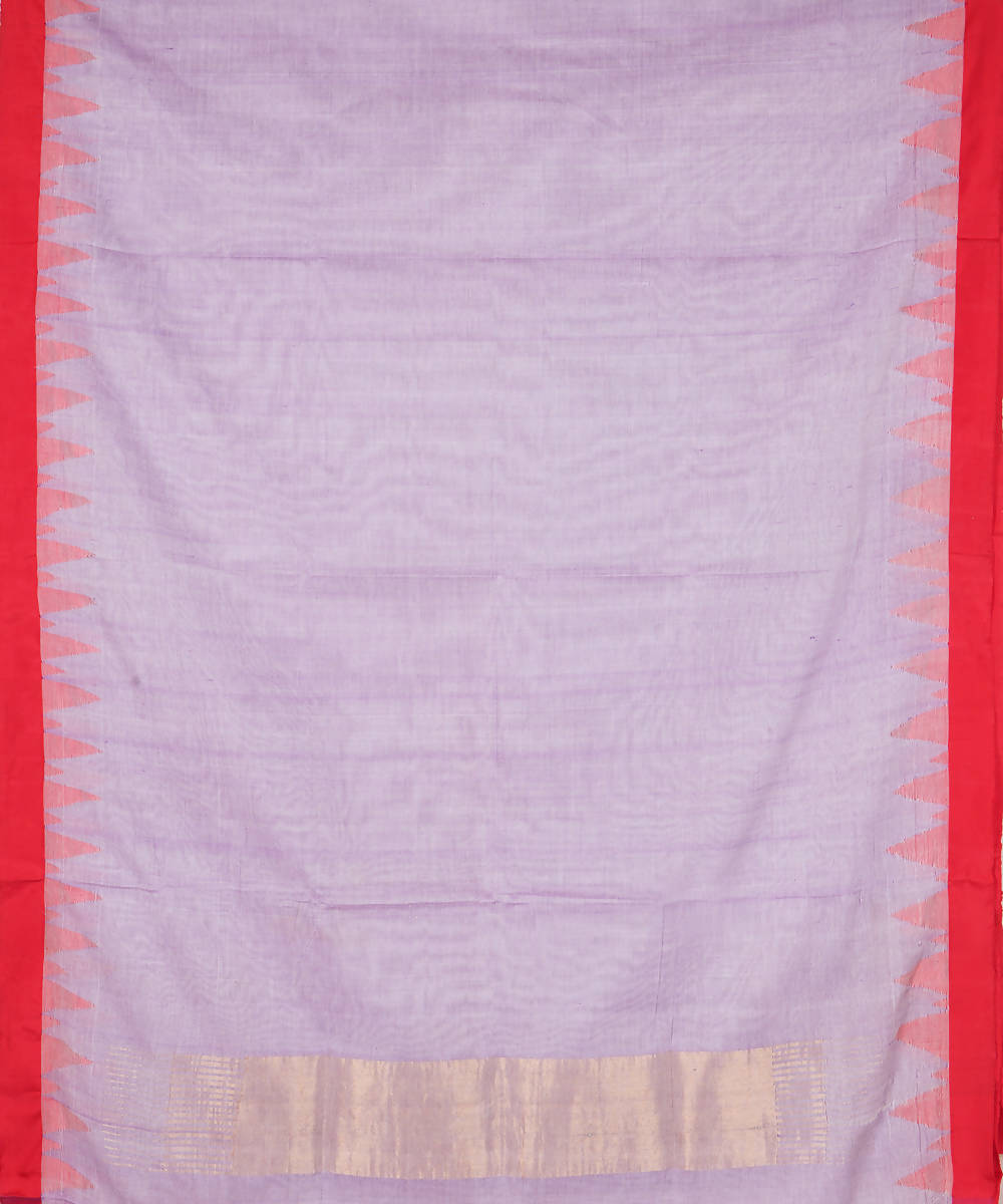 Lavender Handloom Kuppadam Cotton Saree