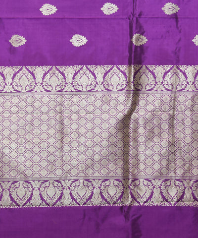 Banarasi Handloom Purple Silk Saree