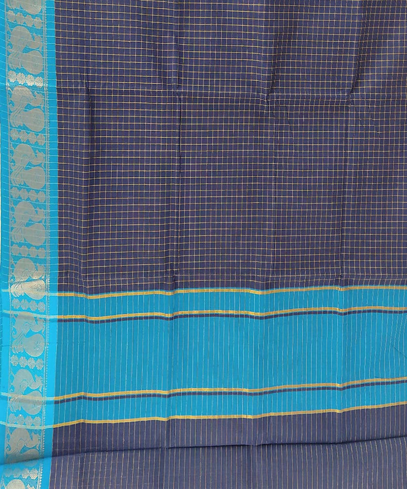 Navy blue handloom tamil nadu cotton saree