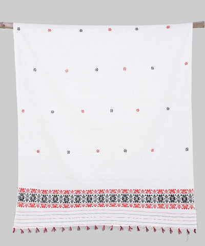 White Red Eri and Woolen Handwoven Chador