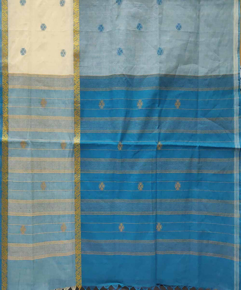 Multi color handwoven cotton venkatagiri saree
