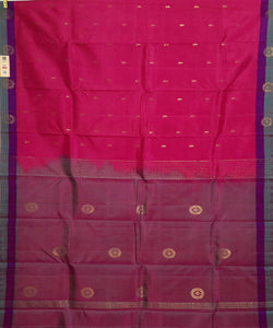 dark pink handloom molakalmuru butta work silk saree
