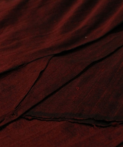 Khadi Nation Handwoven Dark Maroon Raw Silk Khadi Fabric