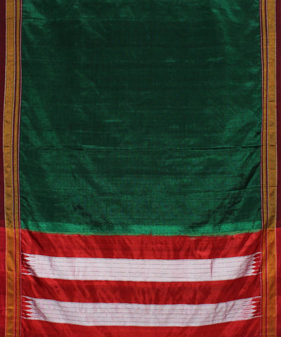 Dark Green Handloom Ilkal Saree