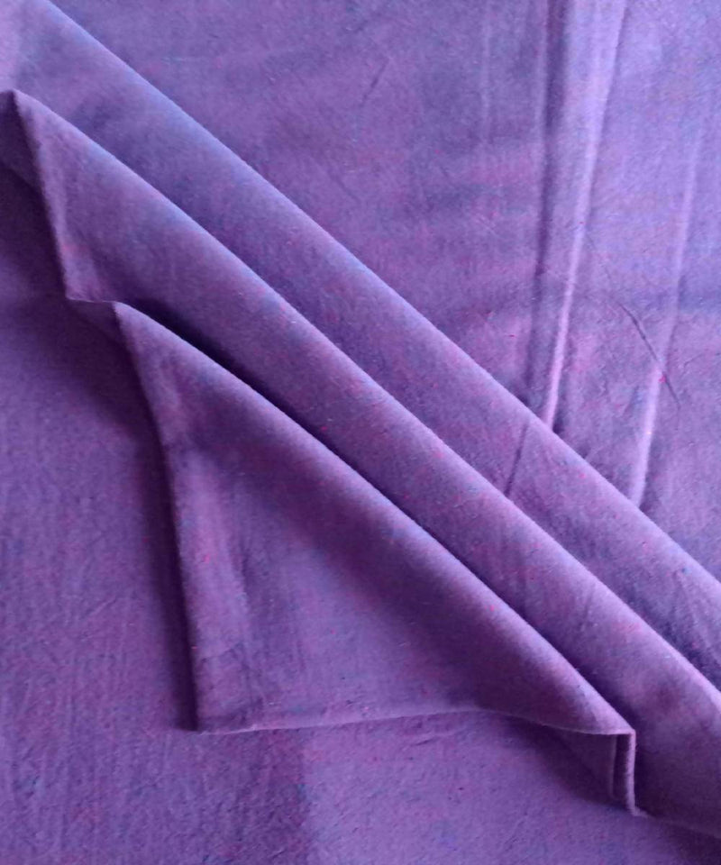 lavender hue yarn dyed handspun handwoven cotton fabric (10m per quantity)