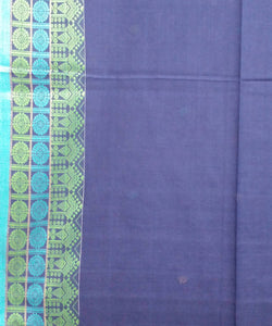 Royal Blue Handloom Mercerised Cotton Bengal Saree