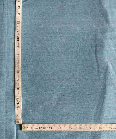 sky blue (natural dyed) and white denim handspun cotton handwoven trouser and jacket fabric