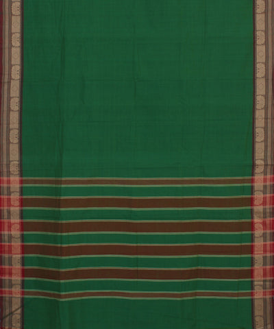 Aruppukottai Dark Green Handloom Cotton Saree