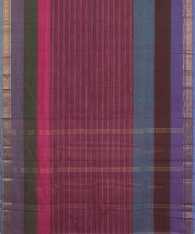 Aruppukottai Multicolor Handloom Cotton Saree