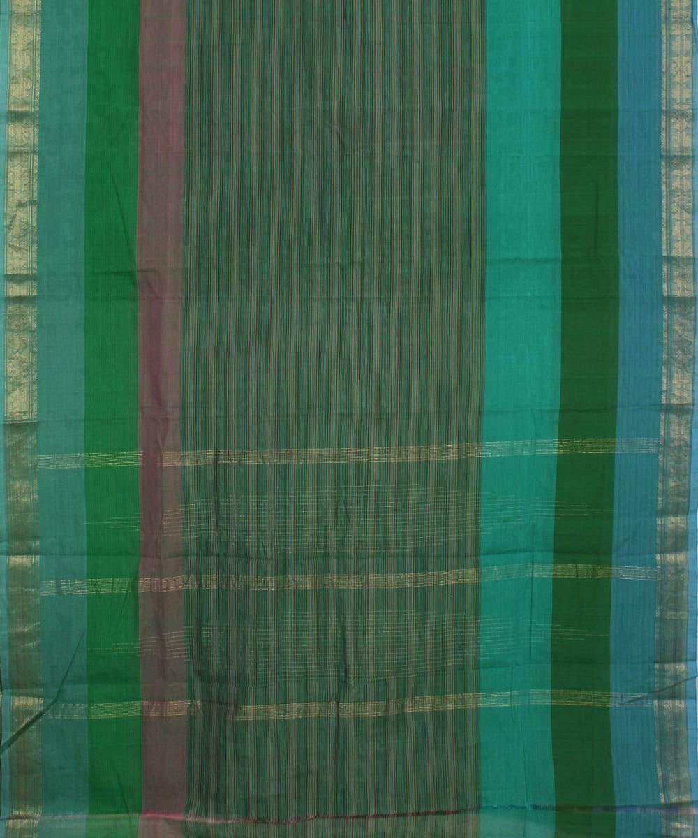 Aruppukottai Green Handloom Cotton Saree