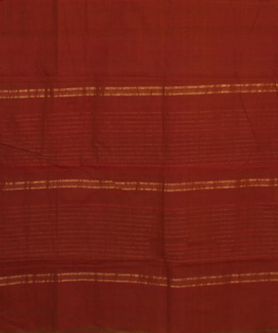 Aruppukottai Handloom Red Maroon Cotton Saree