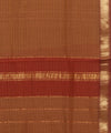 Maheshwari Rust Brown Handwoven Sico Saree