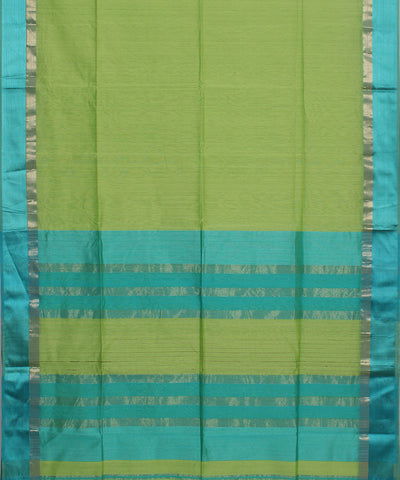 Maheshwari Pear Green Handwoven Sico Saree
