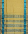 Maheshwari Pale Yellow Handwoven Sico Saree