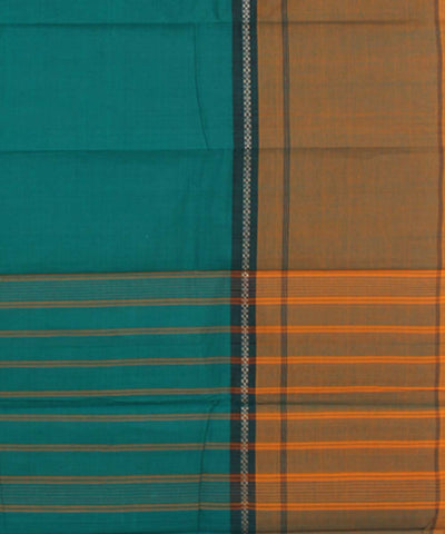 Turquoise, Purple, Mustard Chettinadu Saree
