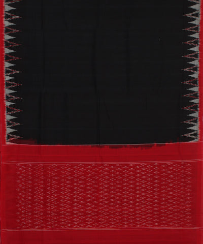 Black and Red Ikat Pochampally Handloom Saree