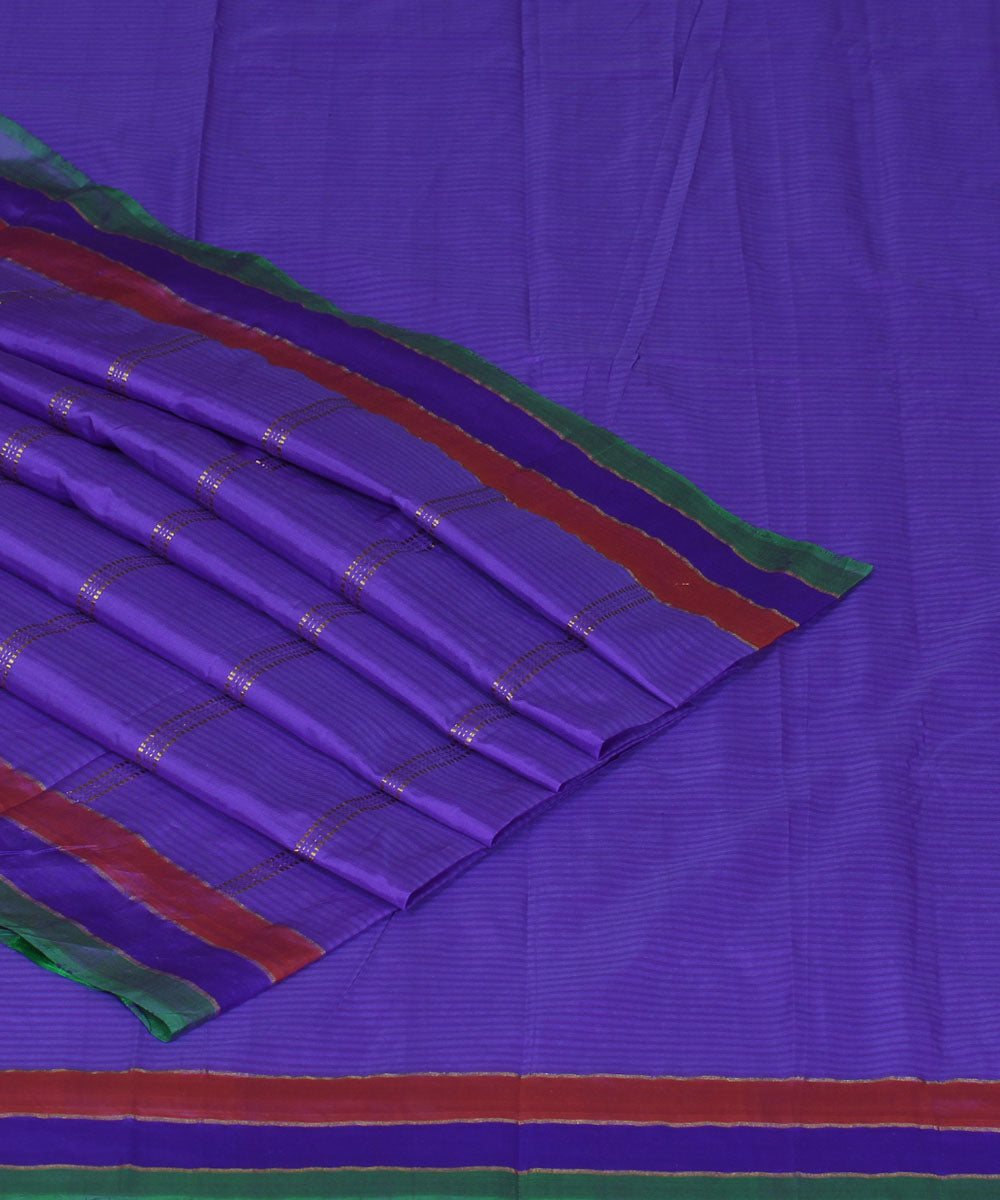 Lavender Purple Handloom Arani Silk Saree