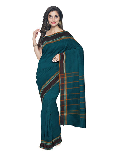 Dark Blue Handwoven Chettinadu Saree