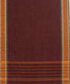 Brown Checks Handwoven Chettinadu Saree
