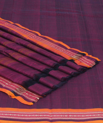 Byzantine Handwoven Cotton Chettinadu Saree