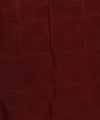 Off White Maroon Batik Printed Chanderi Saree