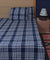 Blue white checks cotton handloom double bed sheet