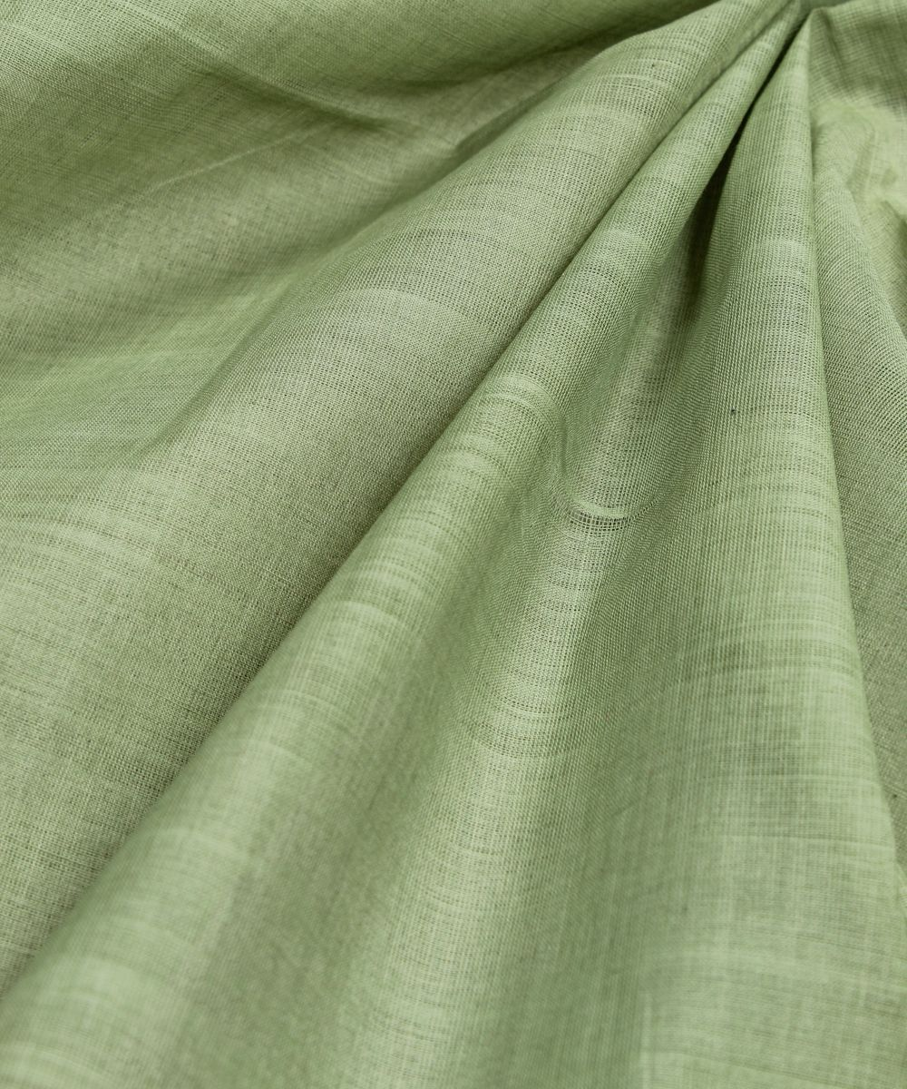 grey green handloom cotton fabric