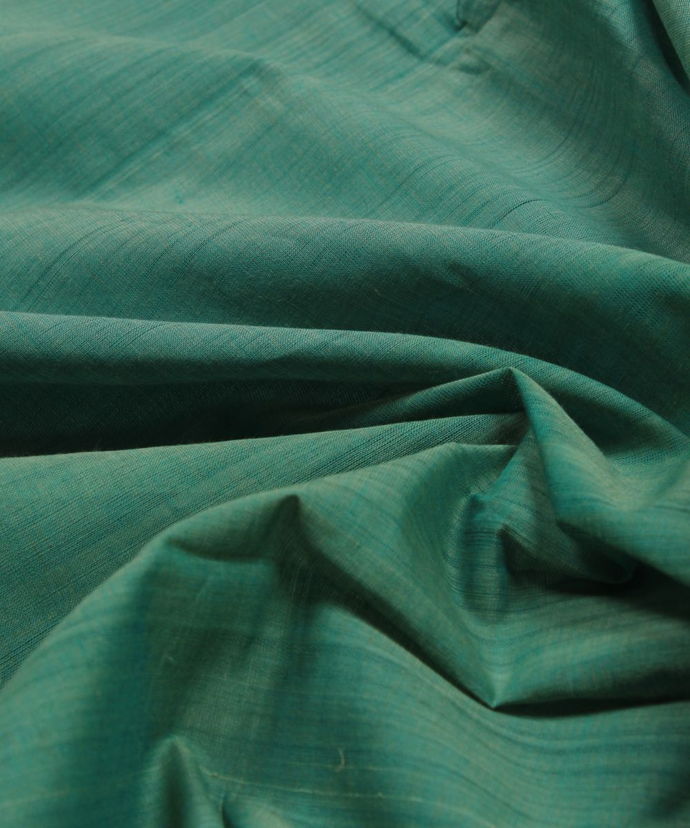 dark green handwoven cotton fabric