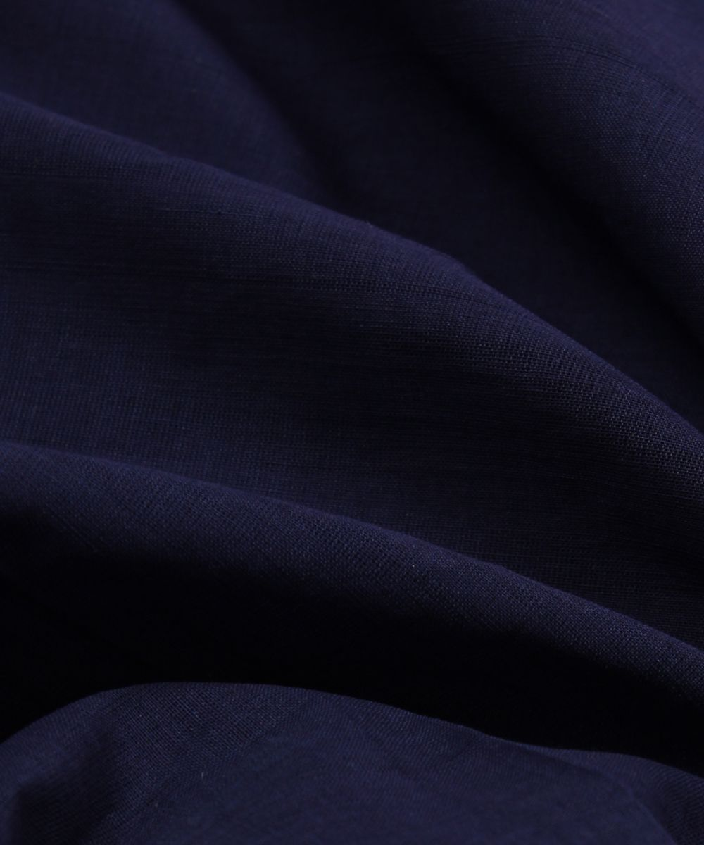 navy blue handloom cotton fabric
