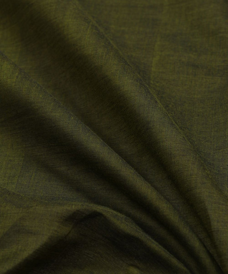 olive green handloom cotton fabric