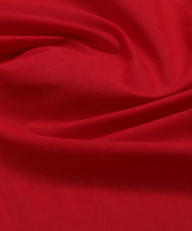 red handloom cotton fabric