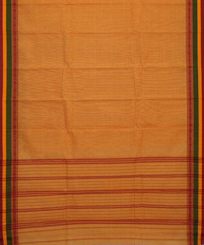 Light Yellow Handloom Narayanpet Cotton Saree